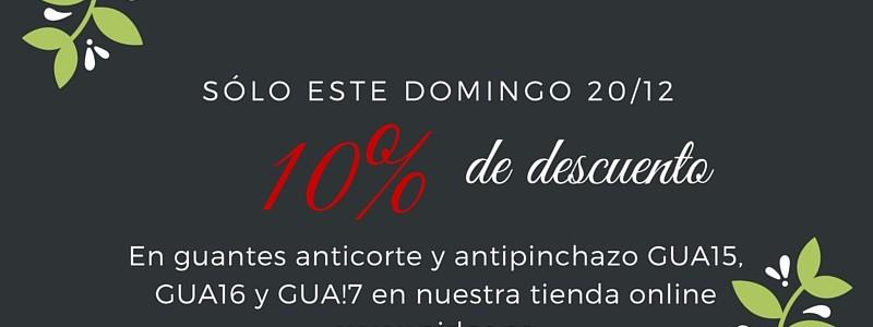 Sólo el 20 de Diciembre, 20% de descuento EN GUANTES