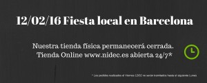 Fiesta local en Barcelona 12 febrero
