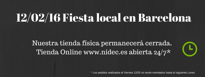 Fiesta local en Barcelona 12 Febrero 2016