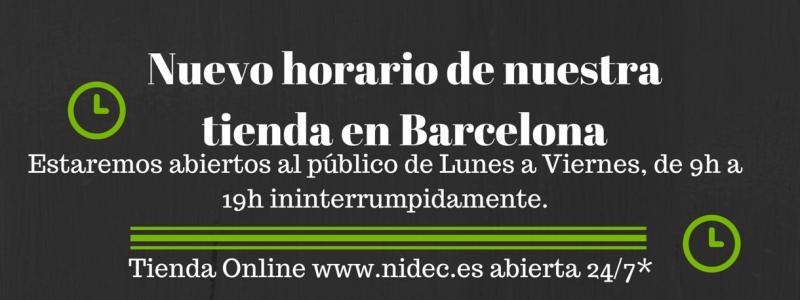 Nuevo horario en tienda Nidec de Barcelona
