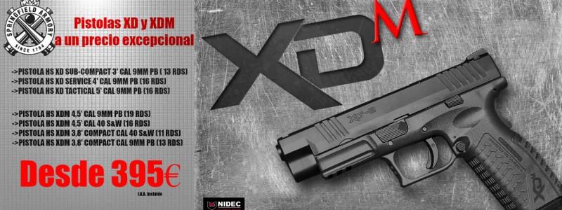 XD y XDM en liquidación. Pistolas excepcionales a un precio increíble