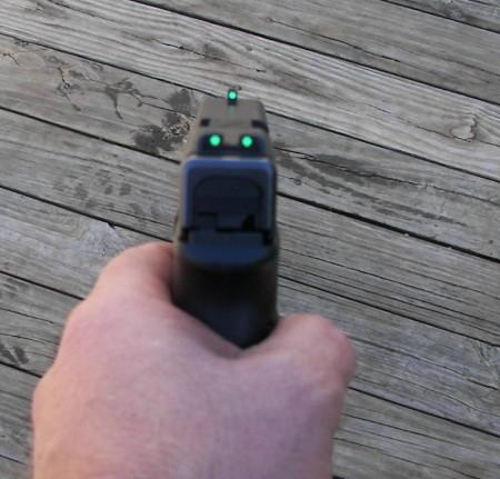 Así se ve las mira especiales para Glock