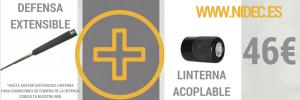 Defensa extensible y linterna acoplable solo 46€