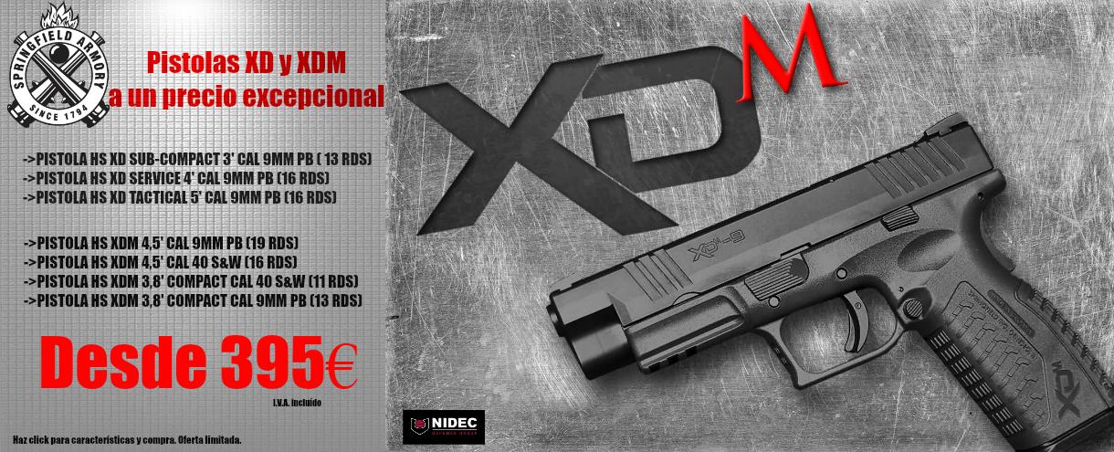Pistolas XD y XDM en liquidación