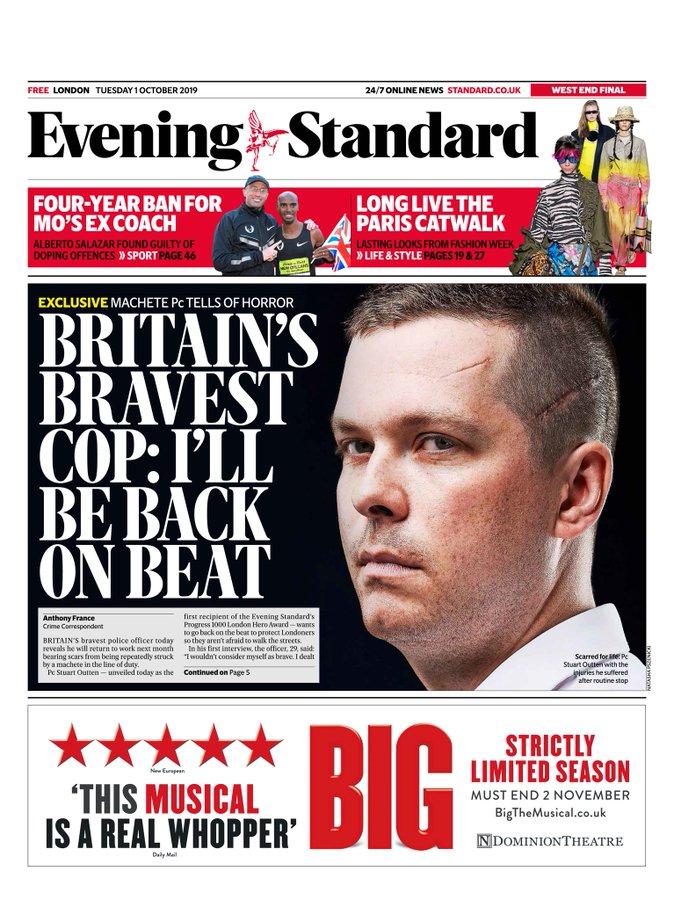 policia portada de periódico