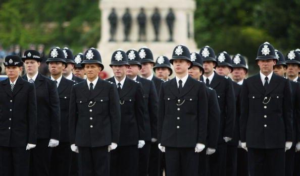 Policías ingleses en formación