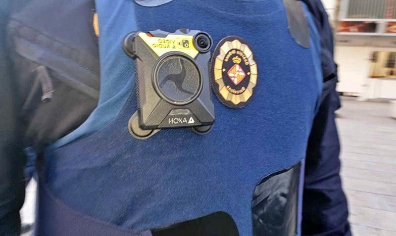 Uso de la camara individual por parte de la policía