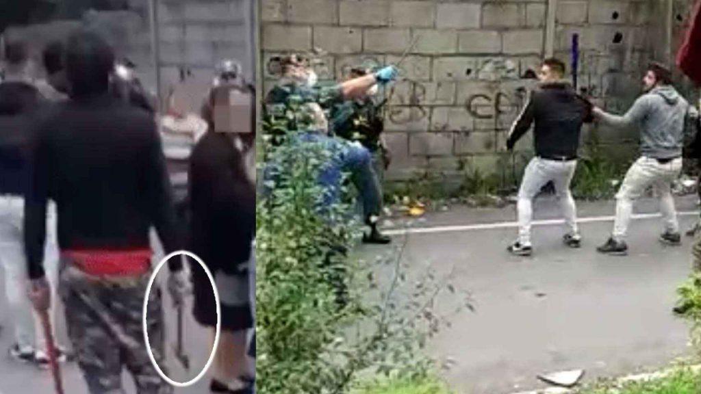 Individuos de enfrentan a la Guardia Civil con palos y hachas